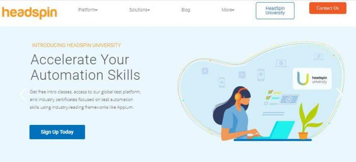 Headspin software development platform