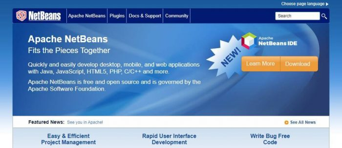 NetBeans - web development tool