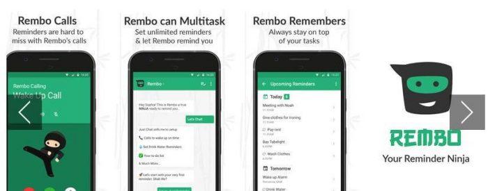 Rembo Reminder app
