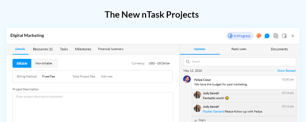 Meet the all new nTask Projects