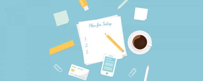 write down your daily plan