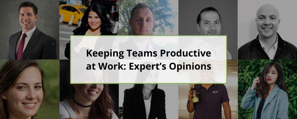 Keeping Teams Productive at Work